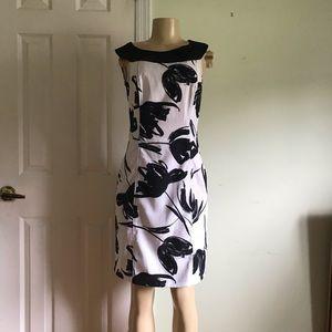 AB Studio black and white floral dress